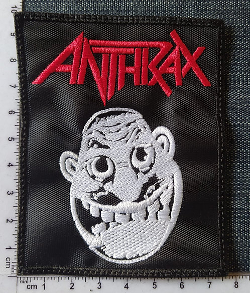 ANTHRAX  - FACE EMBROIDERED PATCH