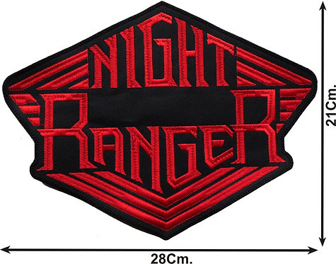 NIGHT RANGER - LOGO EMBROIDERED BACK PATCH