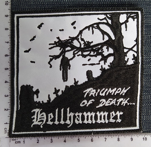HELLHAMMER - TRIUMPH OF DEATH EMBROIDERED PATCH