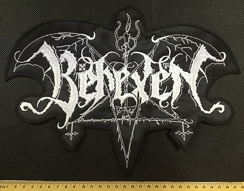 BEHEXEN - WHITE LOGO EMBROIDERED BACK PATCH