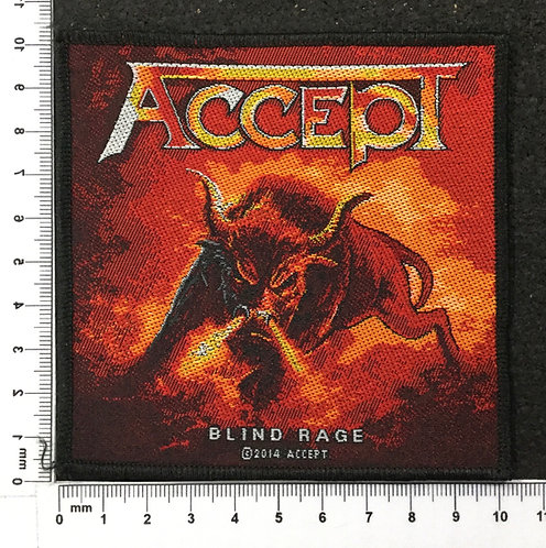 ACCEPT - BLIND RAGE WOVEN PATCH