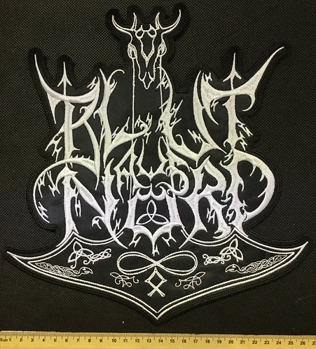 BLUT AUS NORD - WHITE LOGO EMBROIDERED BACK PATCH