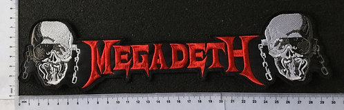 MEGADETH - FACES STRIP EMBROIDERED BACK PATCH