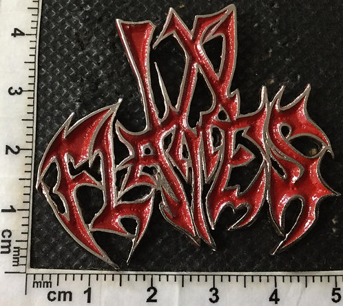 IN FLAMES - RED LOGO