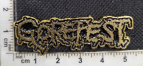 GOREFEST GOLD LOGO - METAL PIN
