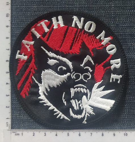 FAITH NO MORE - CIRCLE EMBROIDERED PATCH