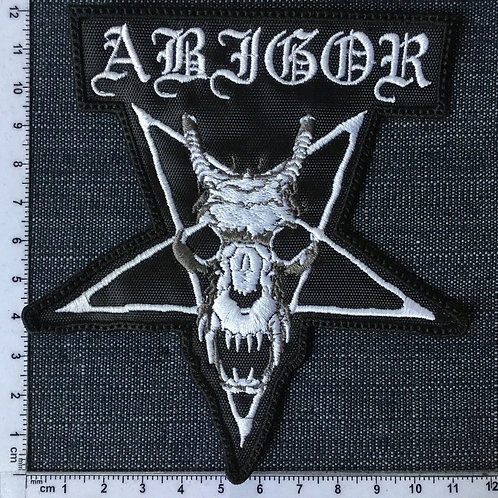 ABIGOR - SKULL SHAPED EMBROIDERED PATCH
