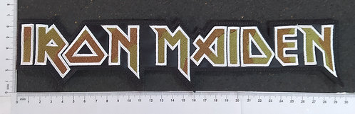 IRON MAIDEN - LOGO EMBROIDERED BACKPATCH