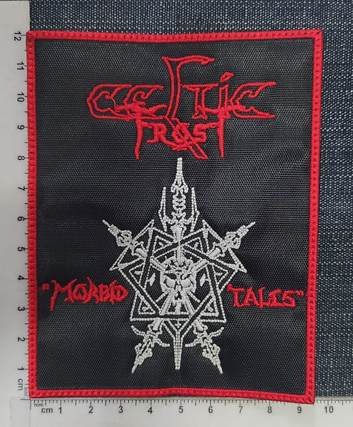 CELTIC FROST - MORBID TALES RECTANGLE EMBROIDERED PATCH