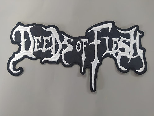 DEEDS OF FLESH - SHAPED EMBROIDERED BACK PATCH