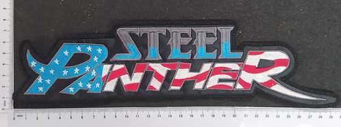 STEEL PANTHER - FLAG LOGO EMBROIDERED BACKPATCH