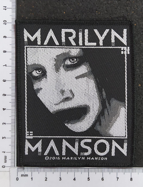 MARILYN MANSON - VILLAIN WOVEN PATCH
