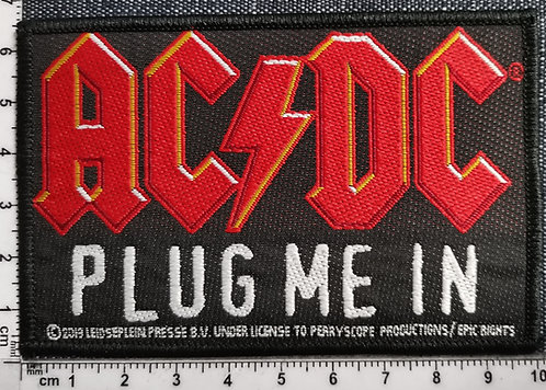 AC/DC - Plug Me In Woven Patch