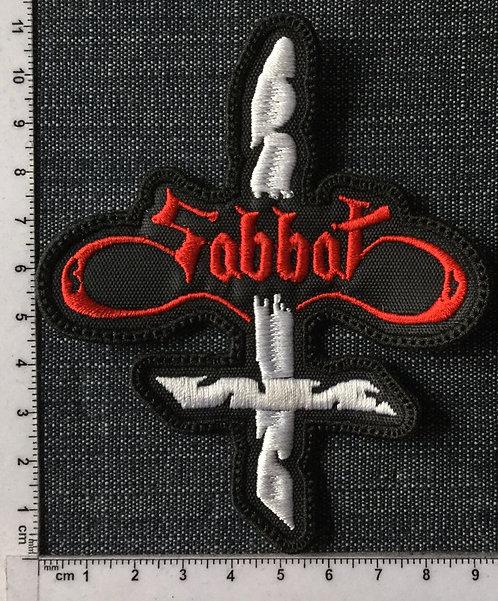 SABBAT - CROSS LOGO EMBROIDERED PATCH