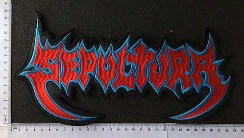 SEPULTURA -  LOGO EMBROIDERED BACK PATCH