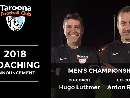 2018 MEN'S CHAMPIONSHIP COACHING TEAM