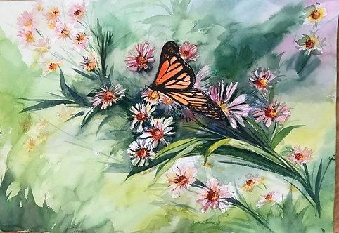 Connie Su - Daisies & Monarch
