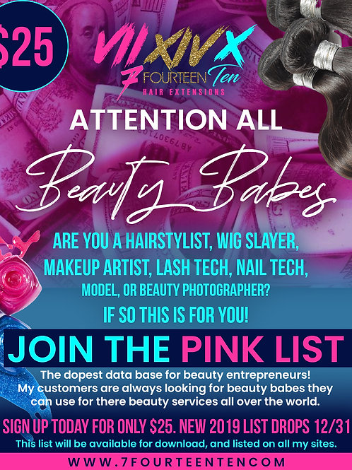 Join The Pink List