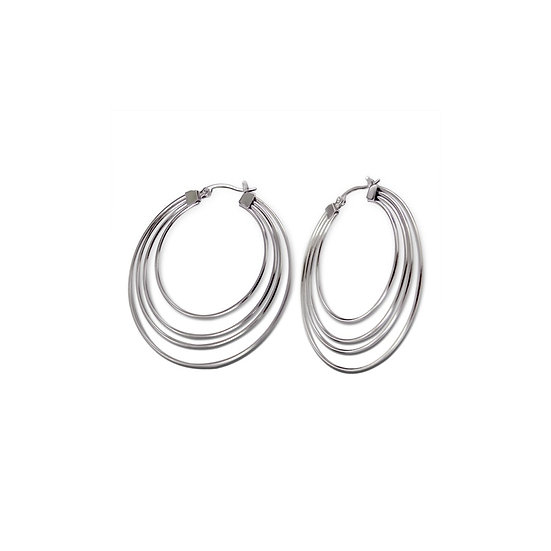 Surgical Stainless Steel Hoop Earrings 50mm