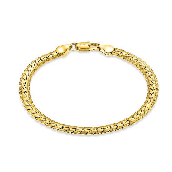 5mm Gold Filled 18K Herringbone Bracelet