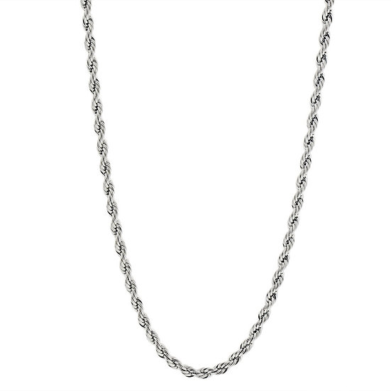 """4MM Silver Plated Rope Chain 24"""""""