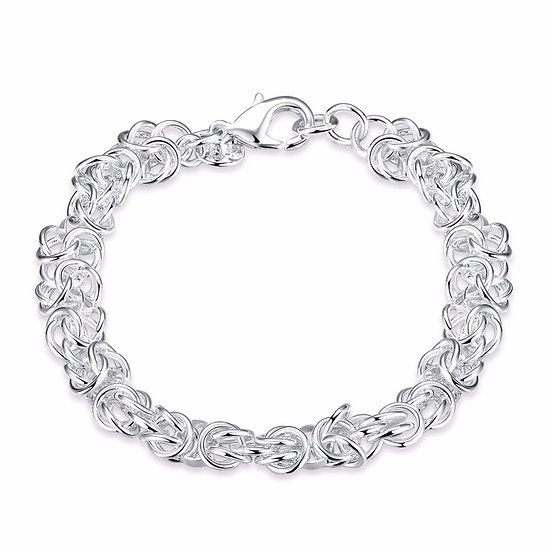 Silver Plated Shrimp Buckle Bracelet