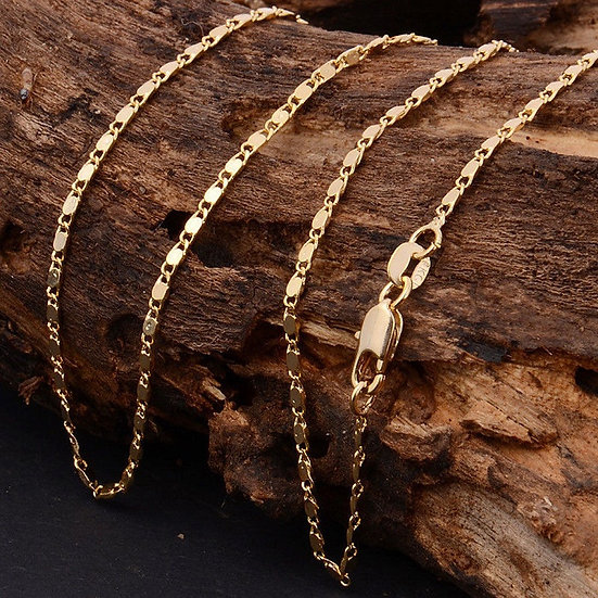 "18K Gold Filled Smooth Chain 16"" 18"" 20 "" 22"" 24"" 26"" 28"" 30"""