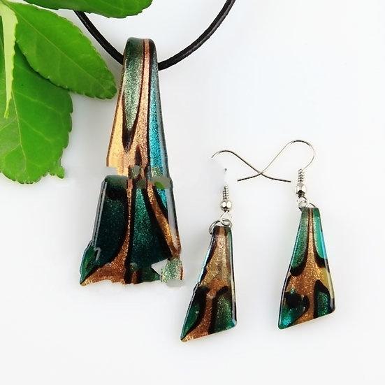 Knife Glitter Lampwork Murano Italian Venetian Handmade Glass Pendants /Earrings