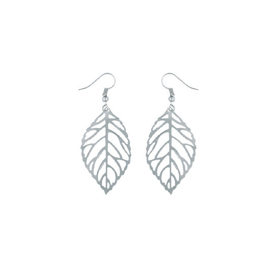 Silver Plated Leaf Earrings