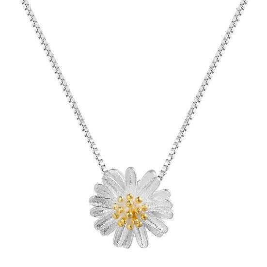 925 Sterling Silver Daisy Pendant