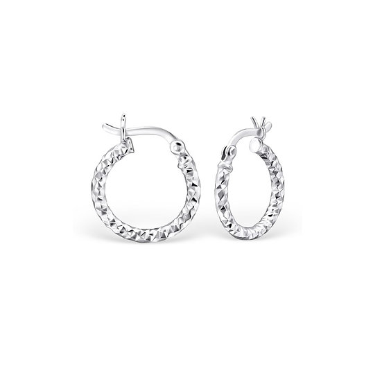 Silver 15mm Ear Hoops with French Lock