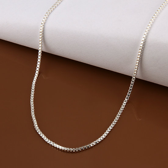 High Quality Silver Plated Box Chains