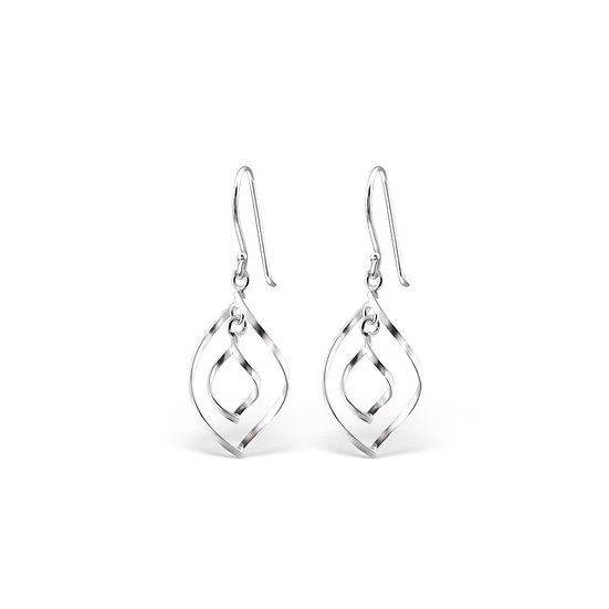 925 Sterling Silver Bended Earrings