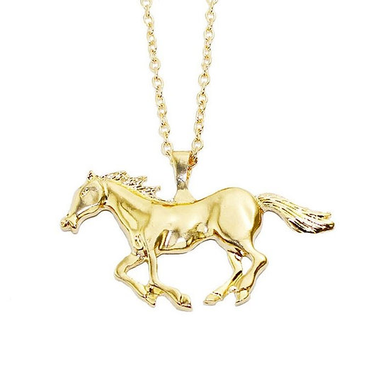 Beautiful Horse Pendant with Free Necklace