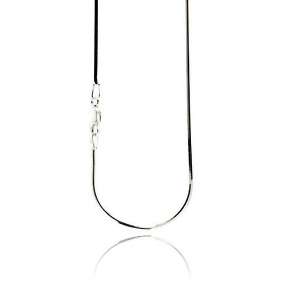 """Silver Plated Square Snake Chains 16""""- 30"""""""