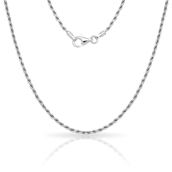 """Silver Plated Rope Chain 16"""" 18"""" 20"""" 22"""" 24"""" 1.5 MM"""