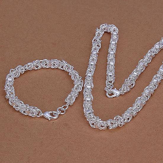 "18"" Silver Link Chain or 8"" Silver Link Bracelet"