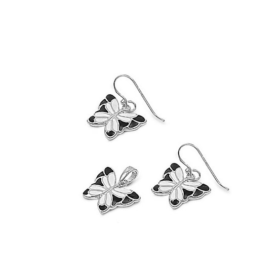 Sterling Silver Set with Black Onyx