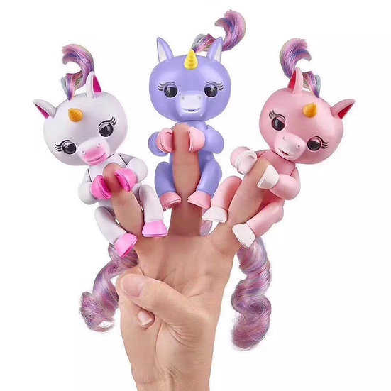 Electronic-Interactive-Fingerling-Happy-Unicorn-Finger-Motion-Pet-Hot-Toy-Pink