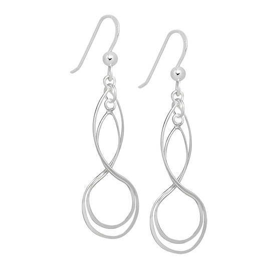 925 Sterling Silver Infinity Earrings