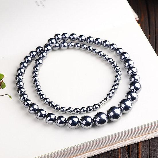 Natural Terahertz Stone Necklace or Bracelet
