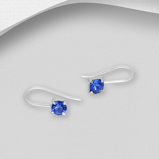 925 Sterling Silver Ear Cuffs Decorated with Crystal Glass