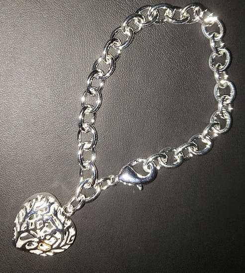 High Quality Silver Plated Bracelet with Heart
