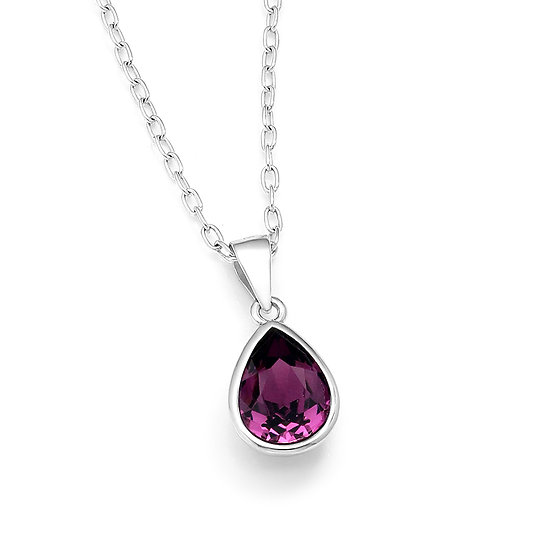 925 Sterling Silver Pendant with Authentic Swarovski Crystal