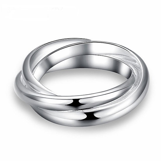 Triple Band Ring Silver Plated