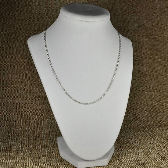 "925 Sterling Silver Rope Chain 16"" 18"" 20"", 22"", 24"" 2 MM"