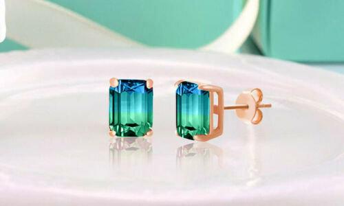 Blue Green Ombre Earrings