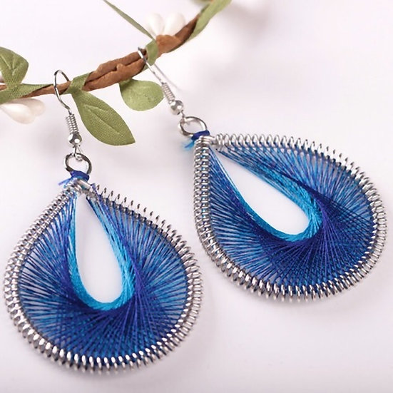 Silk Thread Dangle Earrings