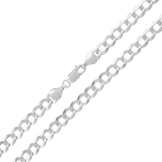 "20"" Sterling Silver Curb Chain Necklace 8mm"