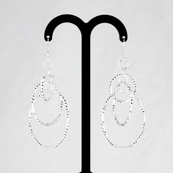 925 Sterling Silver Filled Brass Loop Dangle Earrings